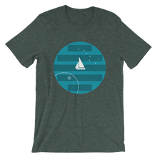 Big Dipper Unisex T-Shirt, Collection Fjaka-Heather Forest-S-Tamed Winds-tshirt-shop-and-sailing-blog-www-tamedwinds-com