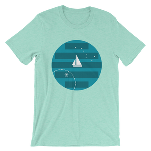 Big Dipper Unisex T-Shirt, Collection Fjaka-Heather Mint-S-Tamed Winds-tshirt-shop-and-sailing-blog-www-tamedwinds-com