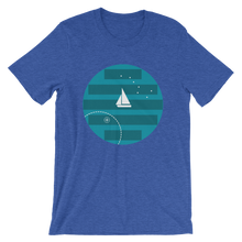 Big Dipper Unisex T-Shirt, Collection Fjaka-Heather True Royal-S-Tamed Winds-tshirt-shop-and-sailing-blog-www-tamedwinds-com