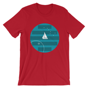 Big Dipper Unisex T-Shirt, Collection Fjaka-Red-S-Tamed Winds-tshirt-shop-and-sailing-blog-www-tamedwinds-com