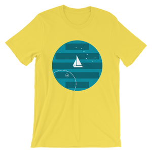 Big Dipper Unisex T-Shirt, Collection Fjaka-Yellow-S-Tamed Winds-tshirt-shop-and-sailing-blog-www-tamedwinds-com