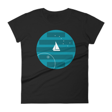 Big Dipper Women's Round Neck T-Shirt, Collection Fjaka-Black-S-Tamed Winds-tshirt-shop-and-sailing-blog-www-tamedwinds-com
