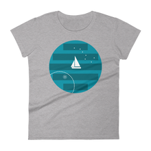 Big Dipper Women's Round Neck T-Shirt, Collection Fjaka-Heather Grey-S-Tamed Winds-tshirt-shop-and-sailing-blog-www-tamedwinds-com