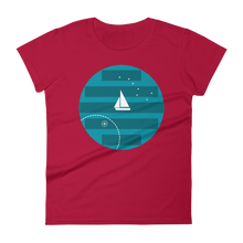 Big Dipper Women's Round Neck T-Shirt, Collection Fjaka-Red-S-Tamed Winds-tshirt-shop-and-sailing-blog-www-tamedwinds-com