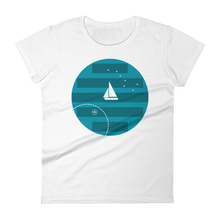 Big Dipper Women's Round Neck T-Shirt, Collection Fjaka-White-S-Tamed Winds-tshirt-shop-and-sailing-blog-www-tamedwinds-com