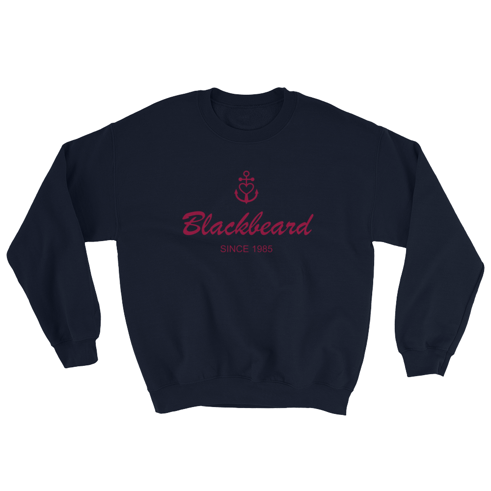 Blackbeard Unisex Crewneck Sweatshirt, Collection Pirate Tales-S-Tamed Winds-tshirt-shop-and-sailing-blog-www-tamedwinds-com