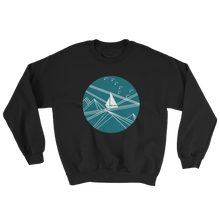Blue Stormy Big Dipper Unisex Crewneck Sweatshirt, Collection Fjaka-Black-S-Tamed Winds-tshirt-shop-and-sailing-blog-www-tamedwinds-com