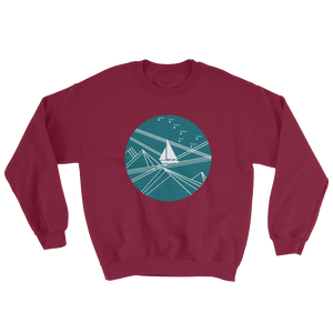 Blue Stormy Big Dipper Unisex Crewneck Sweatshirt, Collection Fjaka-Maroon-S-Tamed Winds-tshirt-shop-and-sailing-blog-www-tamedwinds-com