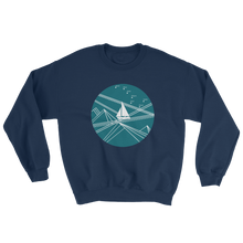 Blue Stormy Big Dipper Unisex Crewneck Sweatshirt, Collection Fjaka-Navy-S-Tamed Winds-tshirt-shop-and-sailing-blog-www-tamedwinds-com