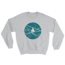 Blue Stormy Big Dipper Unisex Crewneck Sweatshirt, Collection Fjaka-Sport Grey-S-Tamed Winds-tshirt-shop-and-sailing-blog-www-tamedwinds-com