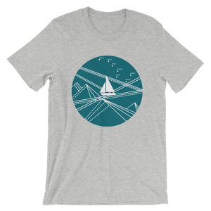 Blue Stormy Big Dipper Unisex T-Shirt, Collection Fjaka-Athletic Heather-S-Tamed Winds-tshirt-shop-and-sailing-blog-www-tamedwinds-com