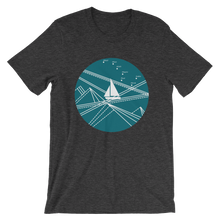Blue Stormy Big Dipper Unisex T-Shirt, Collection Fjaka-Dark Grey Heather-S-Tamed Winds-tshirt-shop-and-sailing-blog-www-tamedwinds-com