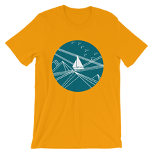Blue Stormy Big Dipper Unisex T-Shirt, Collection Fjaka-Gold-S-Tamed Winds-tshirt-shop-and-sailing-blog-www-tamedwinds-com