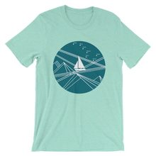 Blue Stormy Big Dipper Unisex T-Shirt, Collection Fjaka-Heather Mint-S-Tamed Winds-tshirt-shop-and-sailing-blog-www-tamedwinds-com