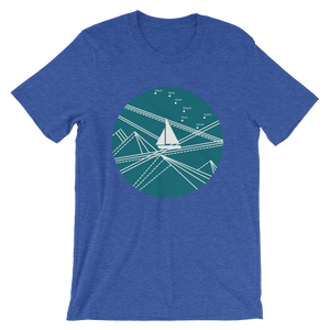 Blue Stormy Big Dipper Unisex T-Shirt, Collection Fjaka-Heather True Royal-S-Tamed Winds-tshirt-shop-and-sailing-blog-www-tamedwinds-com