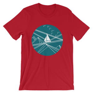 Blue Stormy Big Dipper Unisex T-Shirt, Collection Fjaka-Red-S-Tamed Winds-tshirt-shop-and-sailing-blog-www-tamedwinds-com