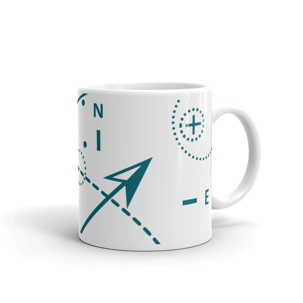 Compass Mug 325 ml, Collection Fjaka-Tamed Winds-tshirt-shop-and-sailing-blog-www-tamedwinds-com