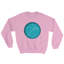 Compass Unisex Crewneck Sweatshirt, Collection Fjaka-Light Pink-S-Tamed Winds-tshirt-shop-and-sailing-blog-www-tamedwinds-com