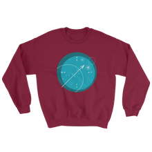 Compass Unisex Crewneck Sweatshirt, Collection Fjaka-Maroon-S-Tamed Winds-tshirt-shop-and-sailing-blog-www-tamedwinds-com