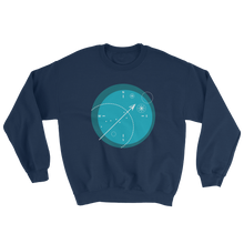 Compass Unisex Crewneck Sweatshirt, Collection Fjaka-Navy-S-Tamed Winds-tshirt-shop-and-sailing-blog-www-tamedwinds-com