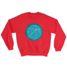Compass Unisex Crewneck Sweatshirt, Collection Fjaka-Red-S-Tamed Winds-tshirt-shop-and-sailing-blog-www-tamedwinds-com