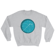 Compass Unisex Crewneck Sweatshirt, Collection Fjaka-Sport Grey-S-Tamed Winds-tshirt-shop-and-sailing-blog-www-tamedwinds-com