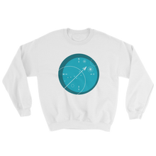 Compass Unisex Crewneck Sweatshirt, Collection Fjaka-White-S-Tamed Winds-tshirt-shop-and-sailing-blog-www-tamedwinds-com