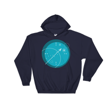 Compass Unisex Hooded Sweatshirt, Collection Fjaka-Navy-S-Tamed Winds-tshirt-shop-and-sailing-blog-www-tamedwinds-com