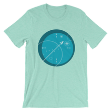 Compass Unisex T-Shirt, Collection Fjaka-Heather Mint-S-Tamed Winds-tshirt-shop-and-sailing-blog-www-tamedwinds-com
