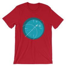 Compass Unisex T-Shirt, Collection Fjaka-Red-S-Tamed Winds-tshirt-shop-and-sailing-blog-www-tamedwinds-com