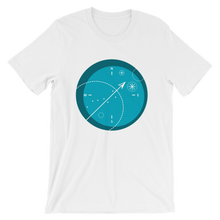 Compass Unisex T-Shirt, Collection Fjaka-White-S-Tamed Winds-tshirt-shop-and-sailing-blog-www-tamedwinds-com