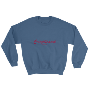 Complicated Unisex Crewneck Sweatshirt, Collection Nicknames-Indigo Blue-S-Tamed Winds-tshirt-shop-and-sailing-blog-www-tamedwinds-com