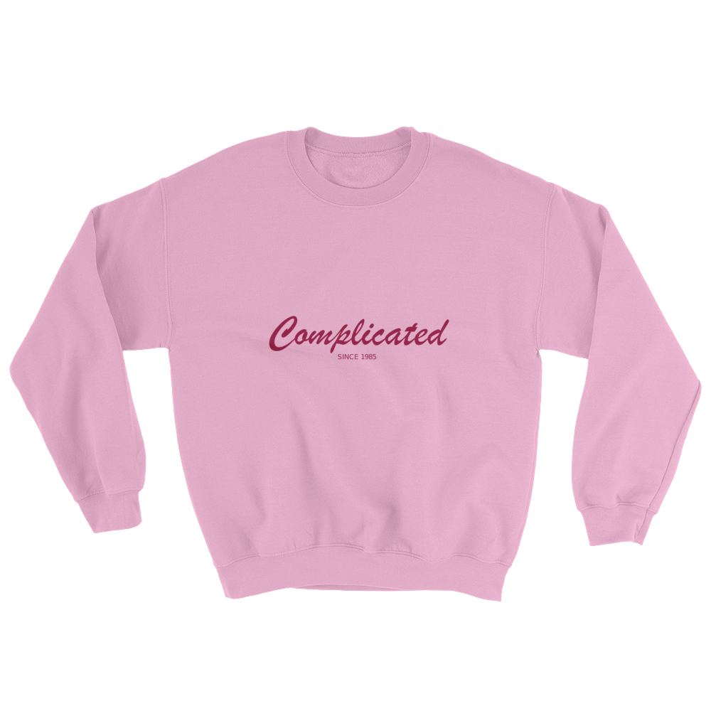 Complicated Unisex Crewneck Sweatshirt, Collection Nicknames-Light Pink-S-Tamed Winds-tshirt-shop-and-sailing-blog-www-tamedwinds-com