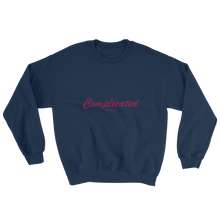 Complicated Unisex Crewneck Sweatshirt, Collection Nicknames-Navy-S-Tamed Winds-tshirt-shop-and-sailing-blog-www-tamedwinds-com