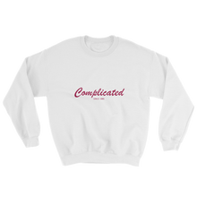 Complicated Unisex Crewneck Sweatshirt, Collection Nicknames-White-S-Tamed Winds-tshirt-shop-and-sailing-blog-www-tamedwinds-com