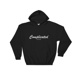 Complicated Unisex Hooded Sweatshirt, Collection Nicknames-Black-S-Tamed Winds-tshirt-shop-and-sailing-blog-www-tamedwinds-com
