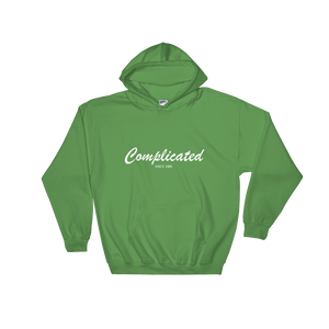 Complicated Unisex Hooded Sweatshirt, Collection Nicknames-Irish Green-S-Tamed Winds-tshirt-shop-and-sailing-blog-www-tamedwinds-com