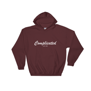 Complicated Unisex Hooded Sweatshirt, Collection Nicknames-Maroon-S-Tamed Winds-tshirt-shop-and-sailing-blog-www-tamedwinds-com