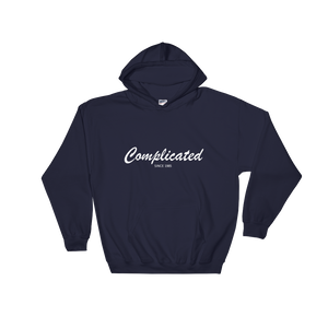 Complicated Unisex Hooded Sweatshirt, Collection Nicknames-Navy-S-Tamed Winds-tshirt-shop-and-sailing-blog-www-tamedwinds-com