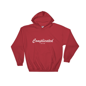 Complicated Unisex Hooded Sweatshirt, Collection Nicknames-Red-S-Tamed Winds-tshirt-shop-and-sailing-blog-www-tamedwinds-com