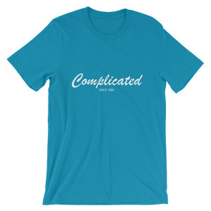 Complicated Unisex T-Shirt, Collection Nicknames-Aqua-S-Tamed Winds-tshirt-shop-and-sailing-blog-www-tamedwinds-com