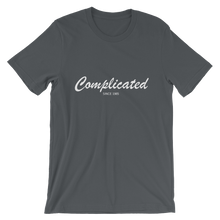 Complicated Unisex T-Shirt, Collection Nicknames-Asphalt-S-Tamed Winds-tshirt-shop-and-sailing-blog-www-tamedwinds-com