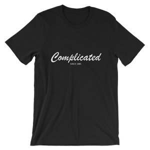 Complicated Unisex T-Shirt, Collection Nicknames-Black-S-Tamed Winds-tshirt-shop-and-sailing-blog-www-tamedwinds-com