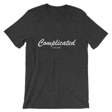 Complicated Unisex T-Shirt, Collection Nicknames-Dark Grey Heather-S-Tamed Winds-tshirt-shop-and-sailing-blog-www-tamedwinds-com