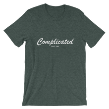 Complicated Unisex T-Shirt, Collection Nicknames-Heather Forest-S-Tamed Winds-tshirt-shop-and-sailing-blog-www-tamedwinds-com