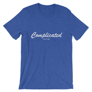 Complicated Unisex T-Shirt, Collection Nicknames-Heather True Royal-S-Tamed Winds-tshirt-shop-and-sailing-blog-www-tamedwinds-com