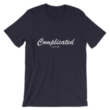 Complicated Unisex T-Shirt, Collection Nicknames-Navy-S-Tamed Winds-tshirt-shop-and-sailing-blog-www-tamedwinds-com