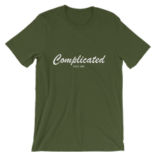 Complicated Unisex T-Shirt, Collection Nicknames-Olive-S-Tamed Winds-tshirt-shop-and-sailing-blog-www-tamedwinds-com