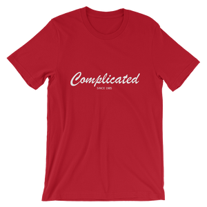 Complicated Unisex T-Shirt, Collection Nicknames-Red-S-Tamed Winds-tshirt-shop-and-sailing-blog-www-tamedwinds-com