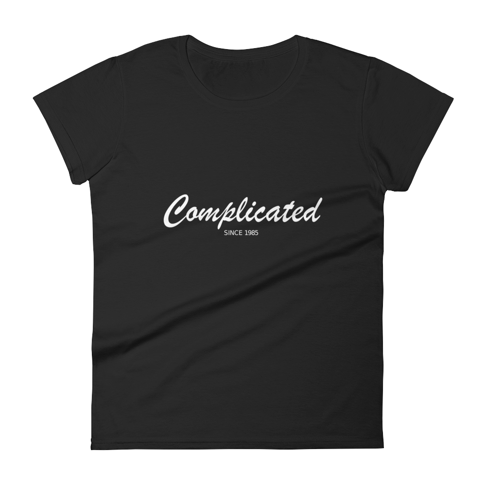 Complicated Women's Round Neck T-Shirt, Collection Nicknames-Black-S-Tamed Winds-tshirt-shop-and-sailing-blog-www-tamedwinds-com